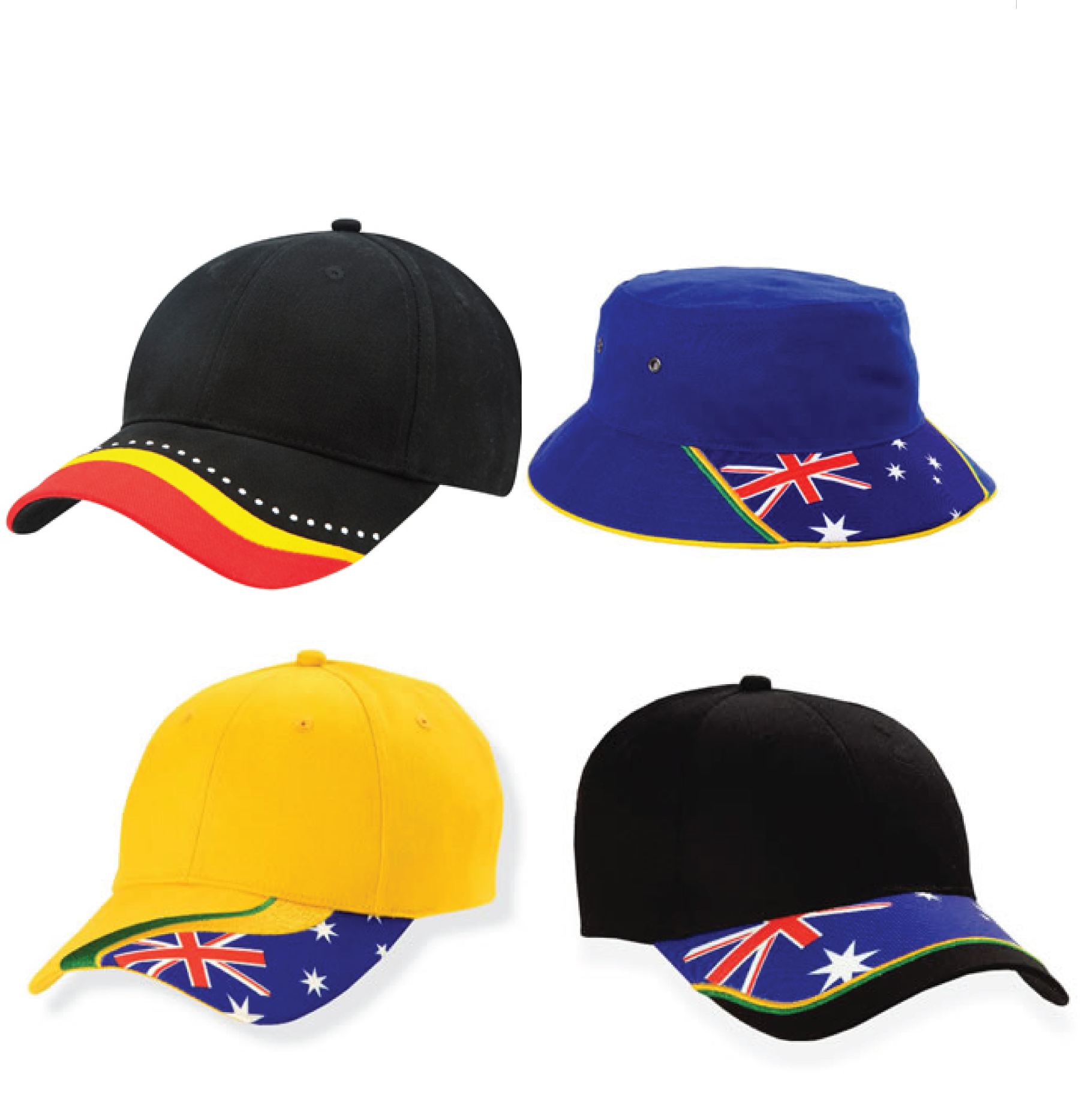 Aussie Themed Caps