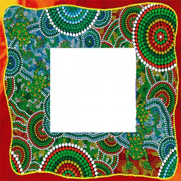 Aboriginal Design Picture Frame.