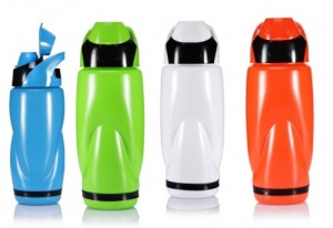 colourful plastic drink bottles