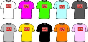 Bongo Aboriginal Platypus Design T-shirt - small images with colours