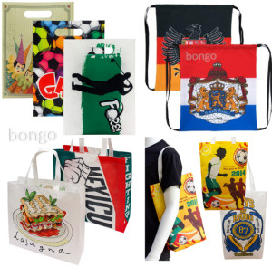 Unique printed promotional bags Bongo