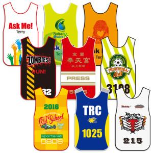individual numbered vests