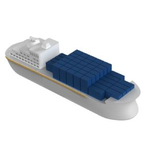 container ship flash drive