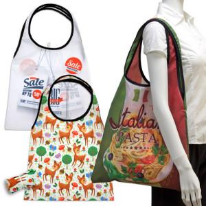 folded shopping bags