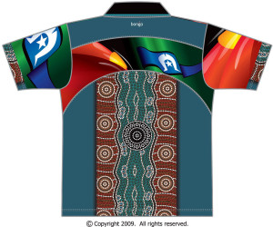 indigenous dotted design polo bongo