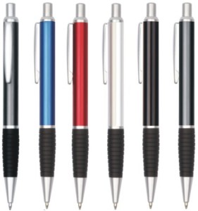 Metal Rubber Grip Pens