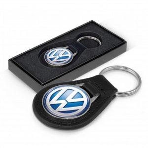 round-leather-keyring