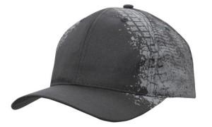 Black Grey Tyre Print Cap