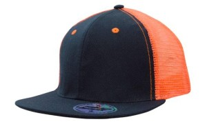 navy orange cap