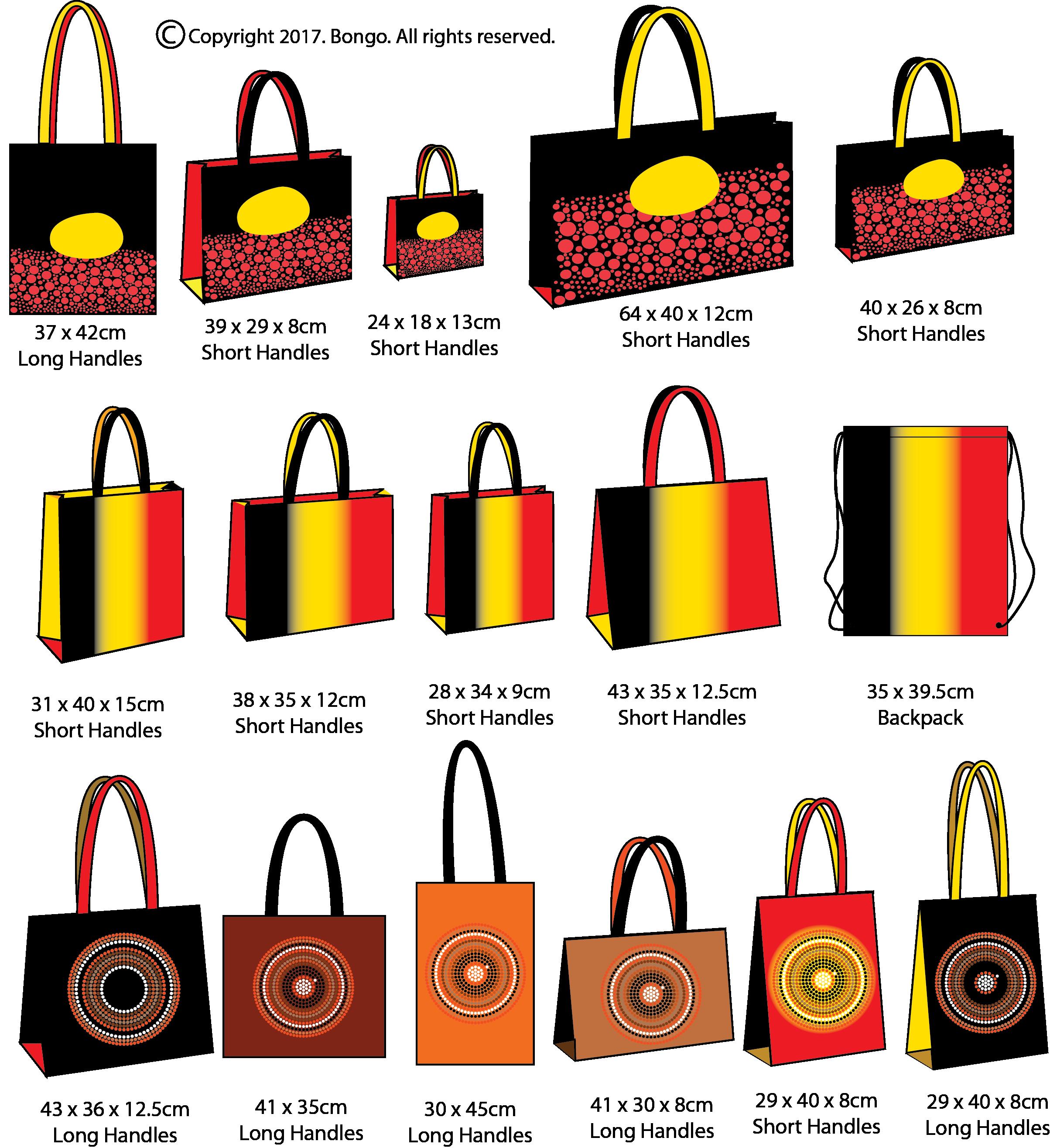 Promotional Aboriginal Theme Tote Bags Bongo