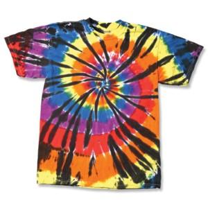 Cut Spiral Tie Dye T-shirts