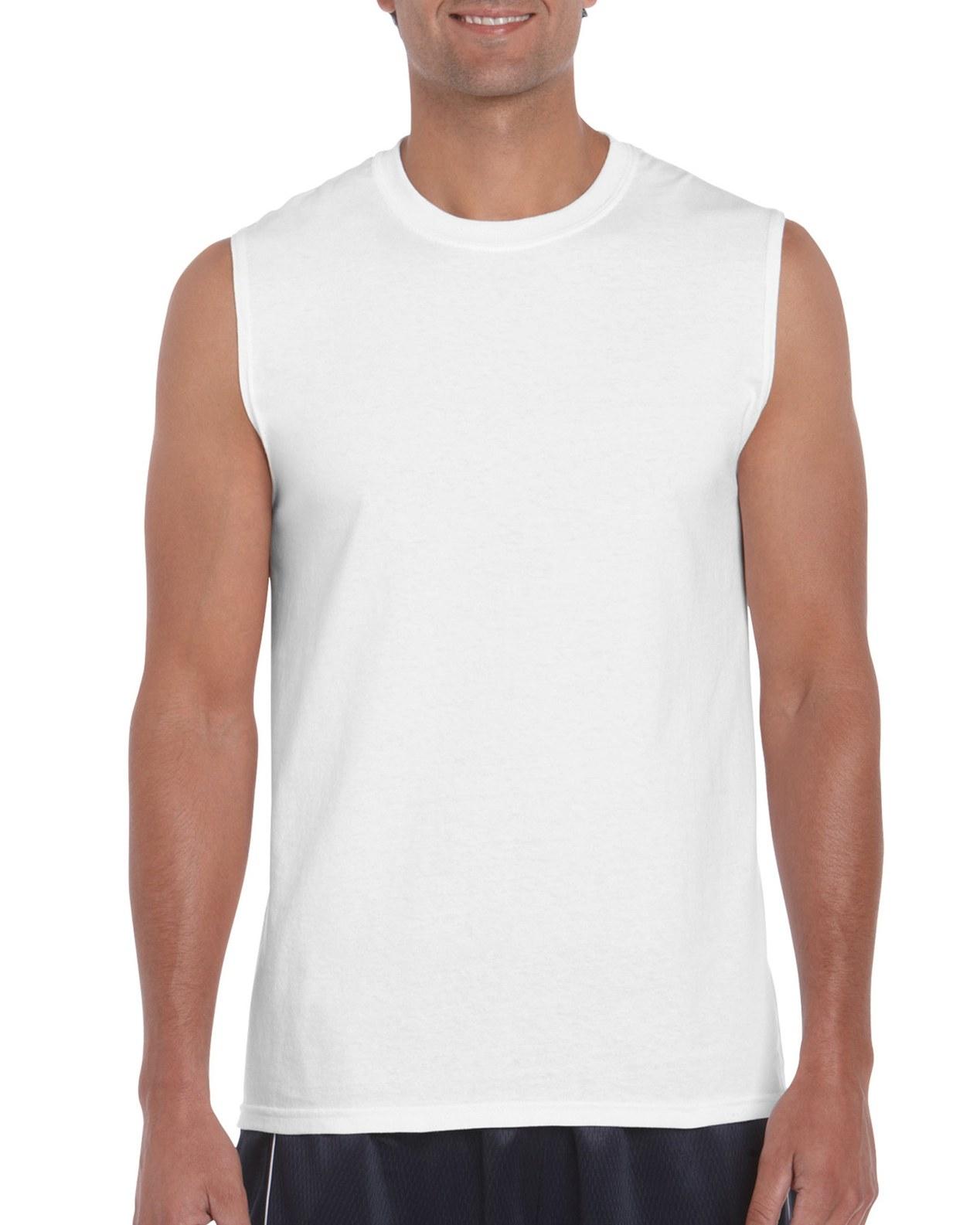 white sleeveless t shirt